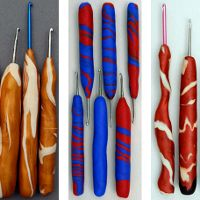 Make your own crochet hooks: Gg Crochet Hooks Handles Jpg, Google Search, Clay Handles, Holiday Gifts, Comfy Crochet, Polymer Clay, Clay Crafts, Crochethook, Diy Crochet