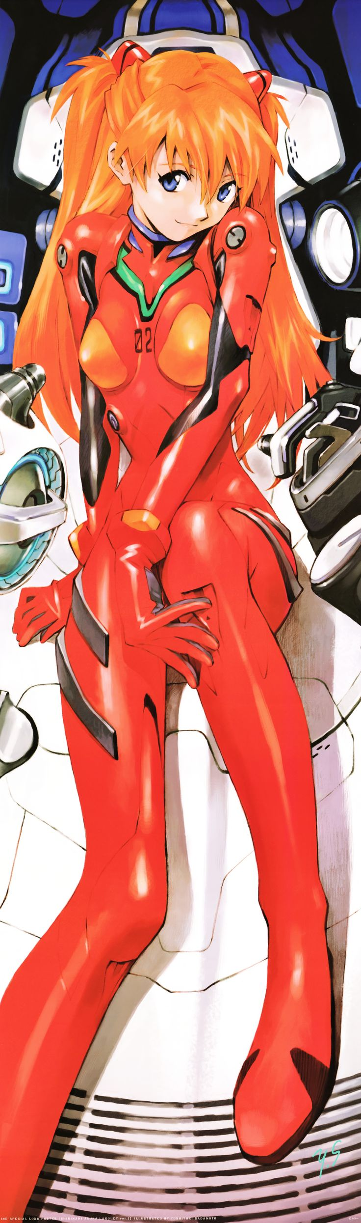 Souryuu Asuka Langley by Yoshiyuki Sadamoto (character designer for Evangelion and co-founder of GAINAX Studio) and Hideaki Anno (writer and director of Neon Genesis Evangelion and co-founder of GAINAX Studio)