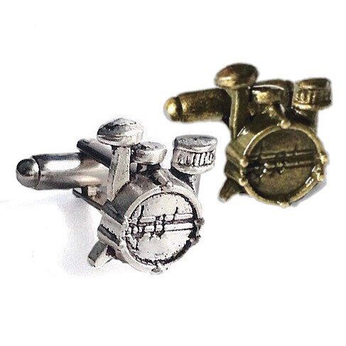 Drum Set Cufflinks, Silver OR Bronze- Mens Handcrafted Music Drums Instrument Cuff Links- Prom Wedding Groom Percussion Band Drummer Gift from my Etsy shop https://www.etsy.com/listing/238202677/drum-set-cufflinks-silver-or-bronze-mens