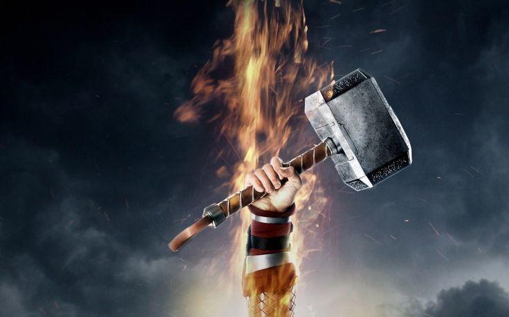 Mjolnir Hammer Thor The Dark World Poster Desktop Wallpaper