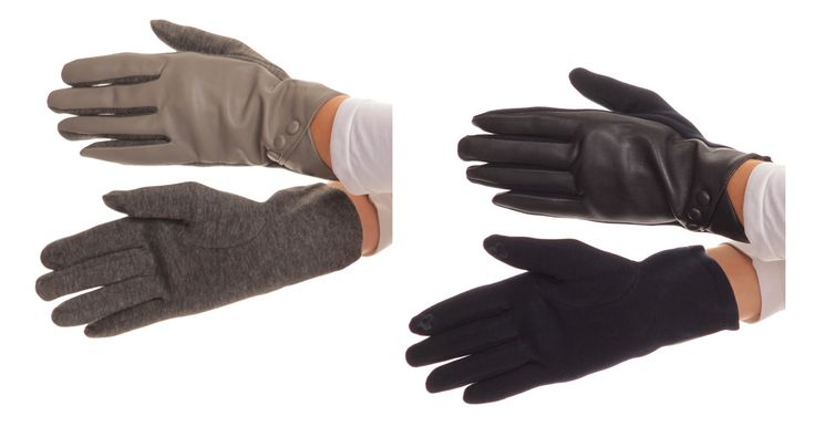 These gloves feature an elegant button design at the wrist, a faux leather front top exterior lining, and a bottom heather knit exterior lining. The interior of these gloves are very warm and soft.  #leather #thermal #best #safety #fleece #insulated #gloves #winter #brown #hand #mens #long #women #construction #fingerless #black #mittens #womens #ladies #fur #protective #ski