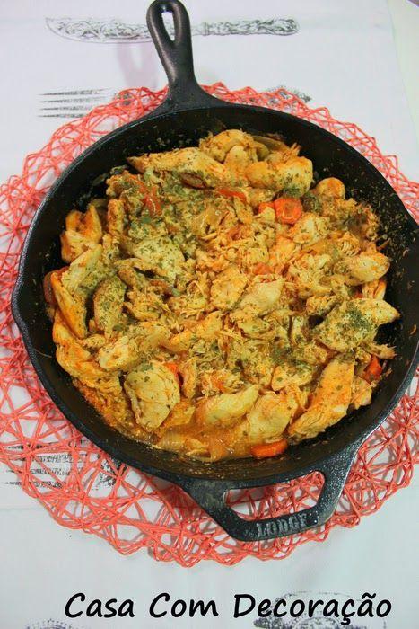 Receita- frango ensopado com cenoura ( usando frigideira de ferro fundido)