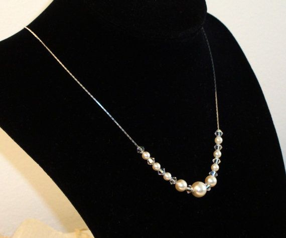 Swarovski white ivory cream-rose pearls by AriadniCreations