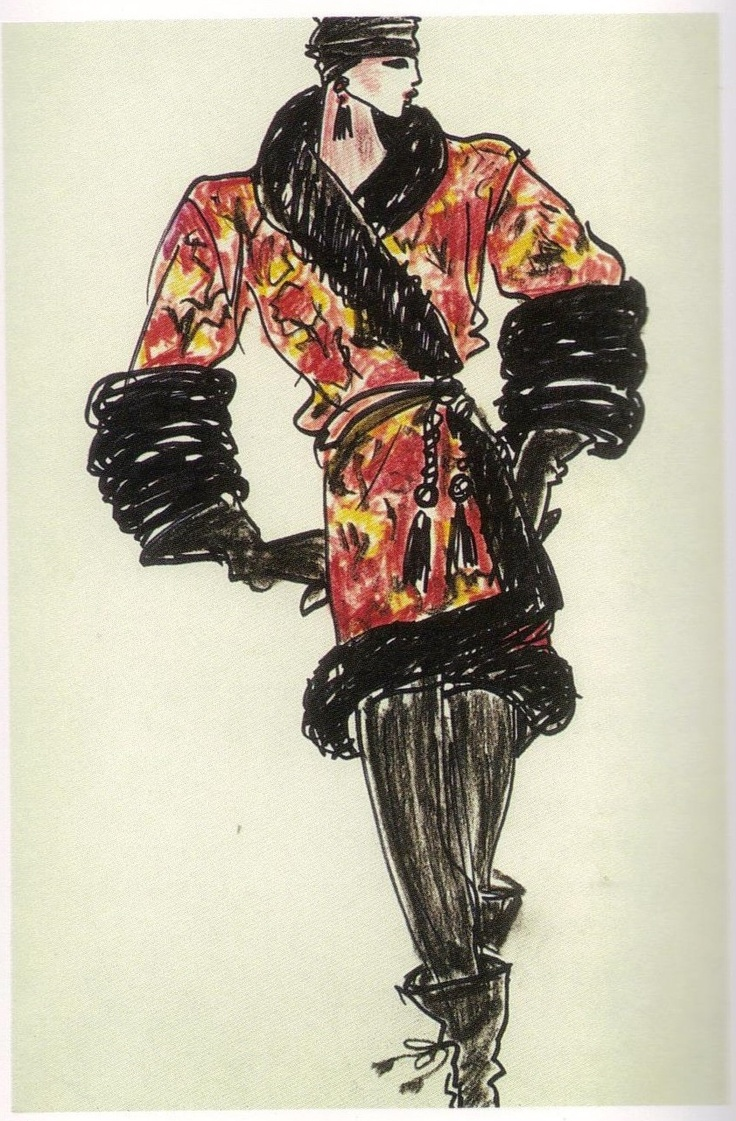 1976-77 - YSL ballets russes collection sketch