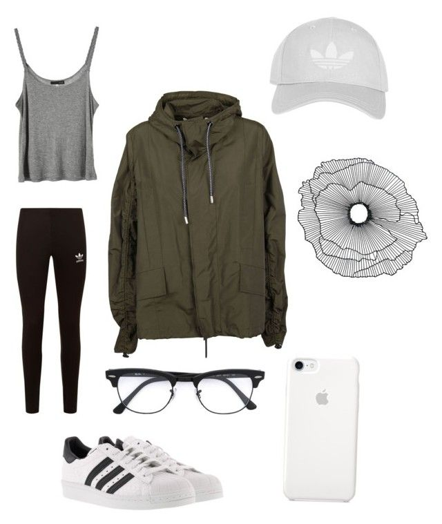 """Airplane outfit"" by tate1999 on Polyvore featuring adidas Originals, DK, adidas, Marni, Ray-Ban, Home Decorators Collection and Topshop"