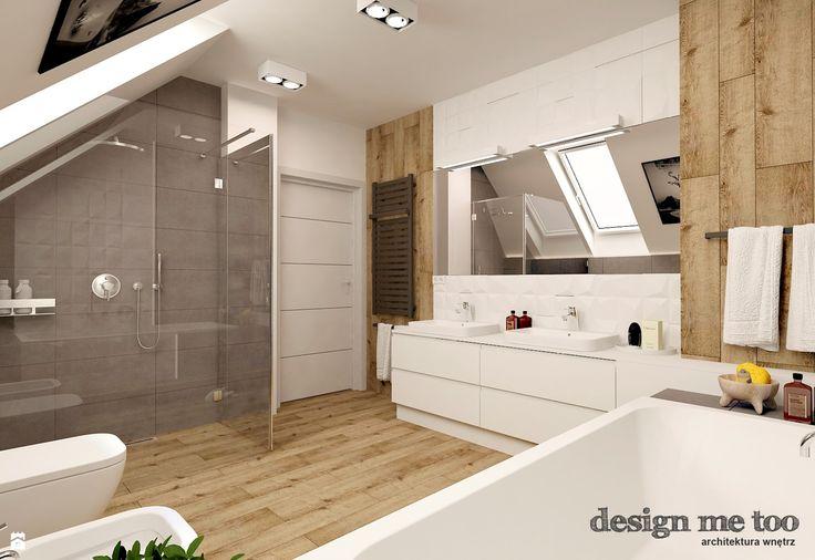 Wystrój wnętrz - Łazienka w domu jednorodzinnym - pomysły na aranżacje. Projekty, które stanowią prawdziwe inspiracje dla każdego, dla kogo liczy się dobry design, oryginalny styl i nieprzeciętne rozwiązania w nowoczesnym projektowaniu i dekorowaniu wnętrz. Obejrzyj zdjęcia!