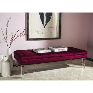 Shop For Safavieh Abrosia Red Acrylic Leg Bench. Get Free Shipping At  Overstock.com · Furniture OutletOnline ...