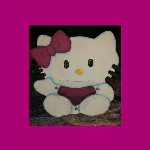 alcancia hello kitty mdf