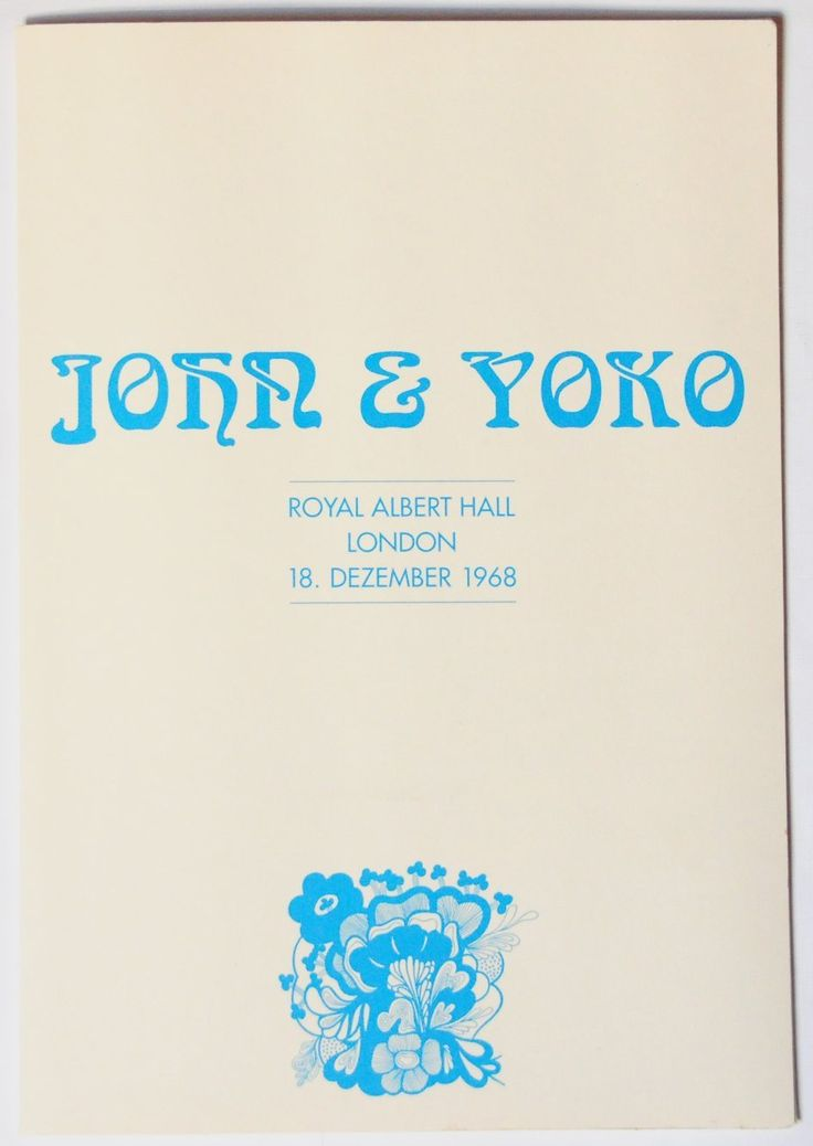 John Lennon &Yoko Ono 'Alchemical Wedding'Photo Folder in London-Royal Albert Hall 18 December 1968: Amazon.co.uk: Kitchen & Home