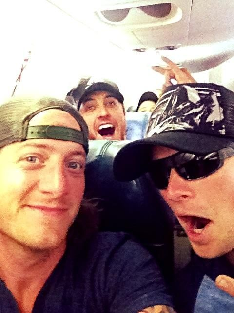 Florida Georgia Line and Luke Bryan on a flight...drinks on Luke