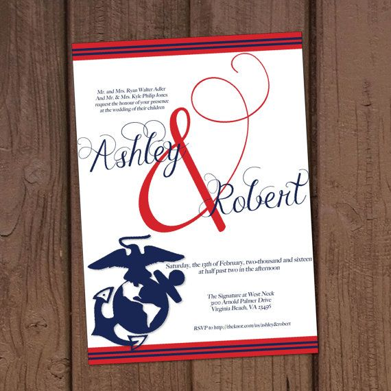 Marine Military Wedding Invitation