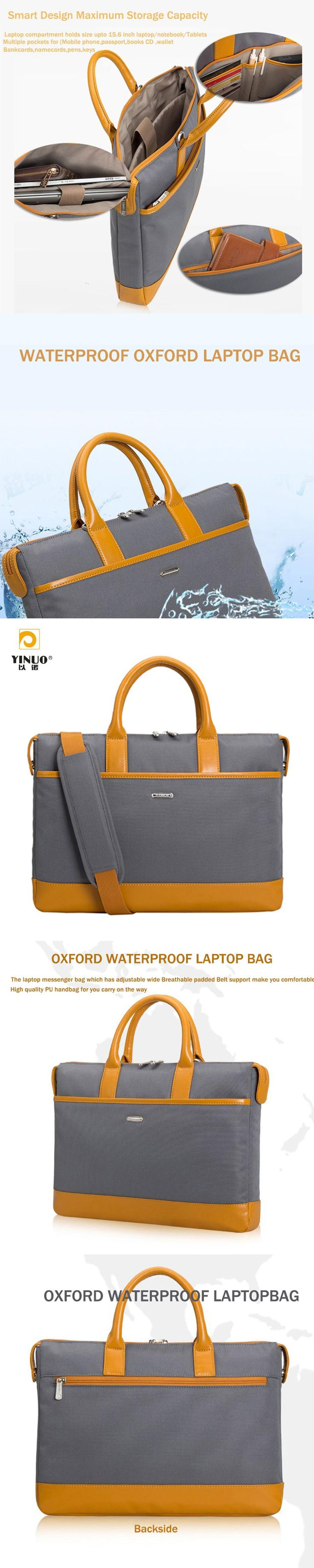 """YINUO 13.3"""" 14"""" 15.6"""" Oxford Waterproof Strap Bag/Notebook Laptop Sleeve Case Cover Briefcase Carrying Bag for Apple MacBook"""