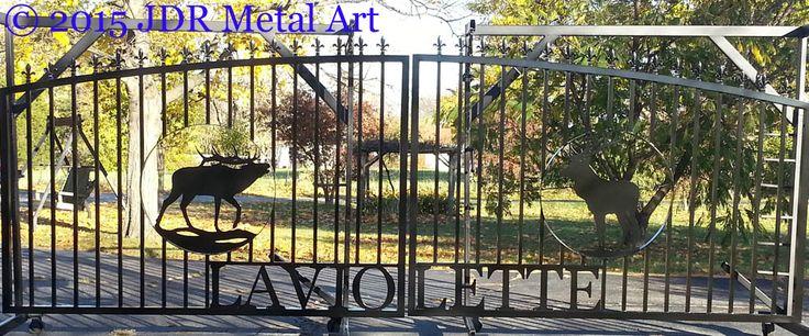 Oregon Aluminum Driveway Gates with Elk - Custom Driveway Gates by ...
