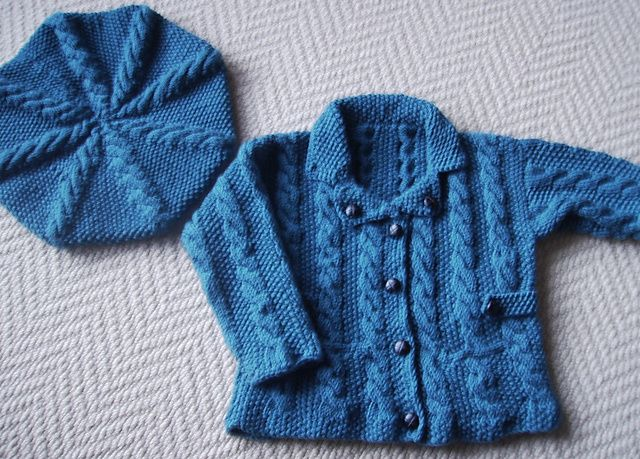 Baby's Coat with Beret pattern by Debbie Bliss