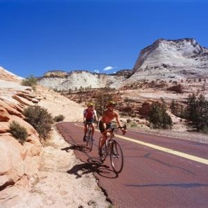 Mt. Zion NP, rent bikes, stay in Springdale, Utah (Desert Pearl Inn - king riverside room with backyard)