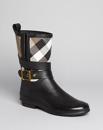 Burberry Rain Boots - Holloway Mid Buckle | Bloomingdale's
