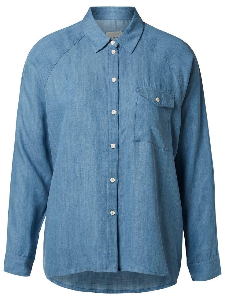 Skjorte i stil med denne fra Selected
