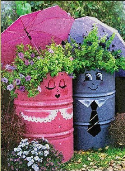 Creative Handmade Garden Decorations, 20 Recycling Ideas for Backyard Decorating