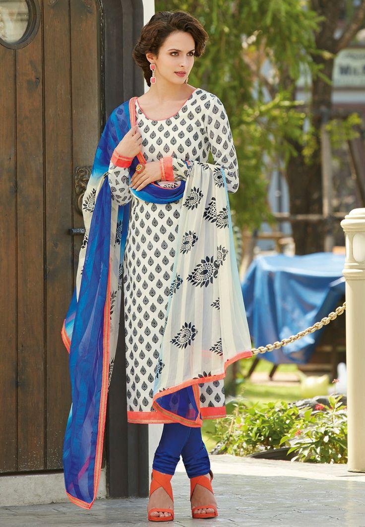 Vistoso El Modelo De Costura Traje Punjabi Fotos - Manta de Tejer ...