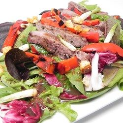 Grilled Sirloin Salad with Sesame-Ginger Dressing Recipe | grilling ...