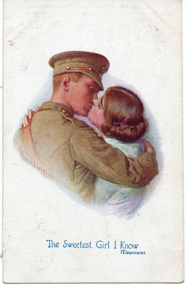 """WW1: Artist HAROLD COPPING """"The Sweetest Girl I Know"""" (Tipperary) Posted 1915"""