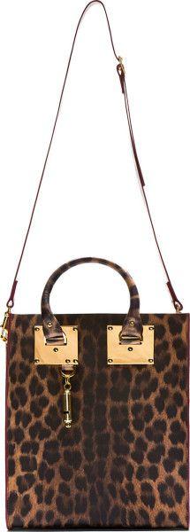 Love this: SOPHIE HULME Brown Leopard Mini Tote Bag @Lyst