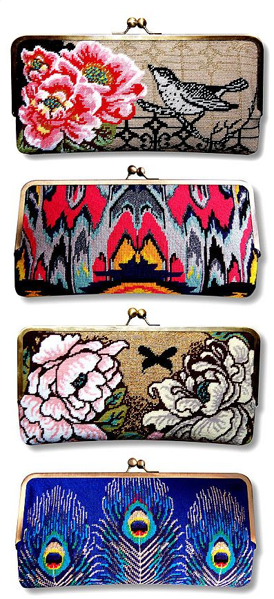 Gorgeous #needlepoint clutch bag kits by Felicity Hall. Exclusive interview coming up in WOXS magazine soon!