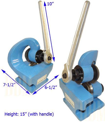 "Mini Hand Manual Rotary Sheet Metal Shear Throatless Plate Cutter Cutting 2MM. Rolling Manual Metal Shear Cutter. Cut low-carton shaped, round, angle, square, strip Steel and sheet metal. Quantity: 1. 2 holes for mounting. 10"" Handle. Shear capacity: 2mm. Base size: 5. x 4-3/4. x 3/8"". Unit overall dimension: 6-1/2. x 7-1/2. x 15"" (with handle)."