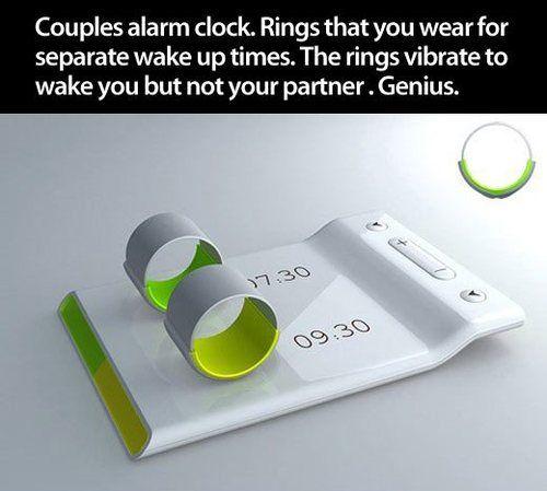 genius. couples alarm clock