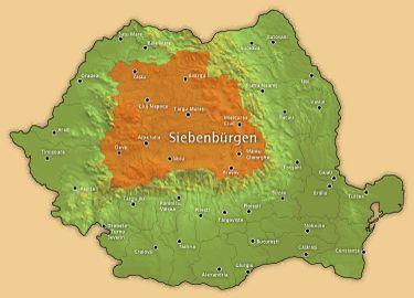 Die Region Siebenbürgen, Rumänien