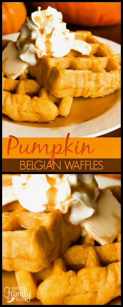 With this Pumpkin Belgian Waffles recipe you can turn a waffle mix into something special! It only takes a few simple ingredients and some canned pumpkin. via @favfamilyrecipz