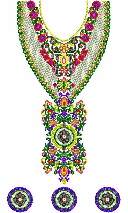 Jalabiya Neck Embroidery Designs