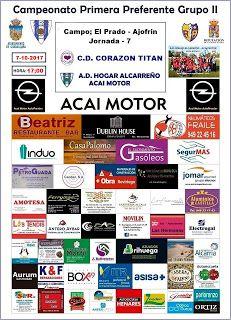 Equipo de fútbol de Guadalajara (España): HOGAR ALCARREÑO ACAI MOTOR-C.D CORAZON TITAN SÁBAD...