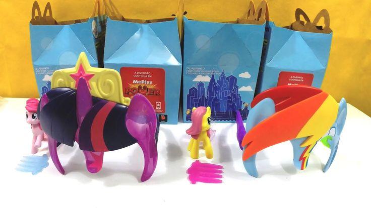 Coleção de Brinquedos My Little Pony do Mclanche Feliz Mcdonalds 2015