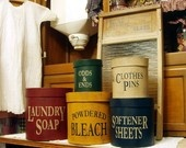 Very cool canisters for the laundry room... anything to make that room nice to be in ;)
