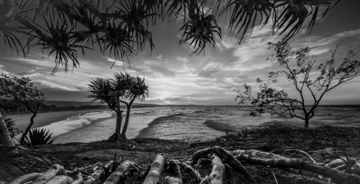 Sunset from Adder Rock overlooking Flinders Beach on Straddie - Stradbroke Island Photography
