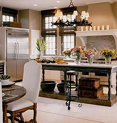 Island and light fixture: Decor, Dreams Kitchens, Kitchens Design, Kitchens Ideas, Kitchens Islands, Farmhouse Kitchens, Bar Stools, Modern Kitchens, French Kitchens