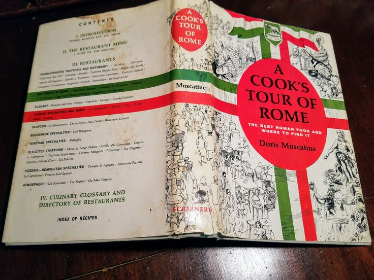 A Cook's Tour of Rome by Doris Muscatine Mid-Century Modern Cookbook from 1964 by VintageEves on Etsy