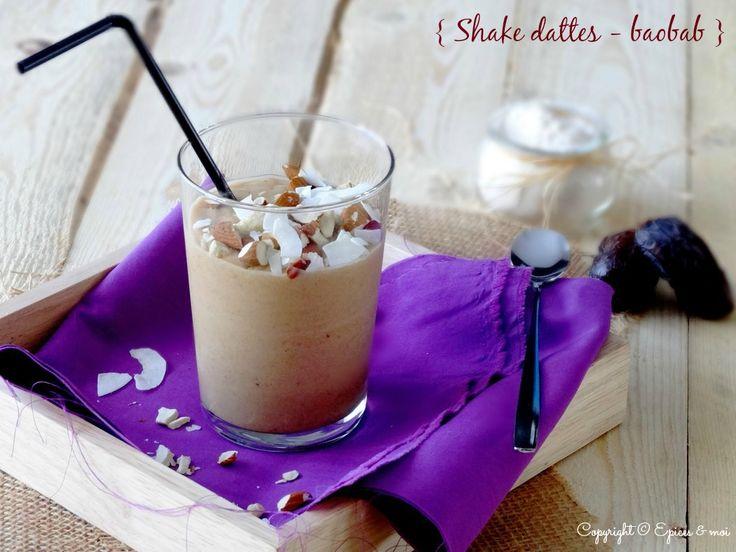 Shake aux dattes, poudre de baobab et fruits secs http://www.epicesetmoi.be/2015/04/shake-aux-dattes-poudre-de-baobab-et-fruits-secs.html