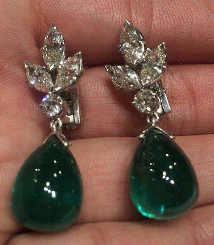 Neligems Emeraldsdiamonds Earrings Pinterest Emeralds Jewel And Bling