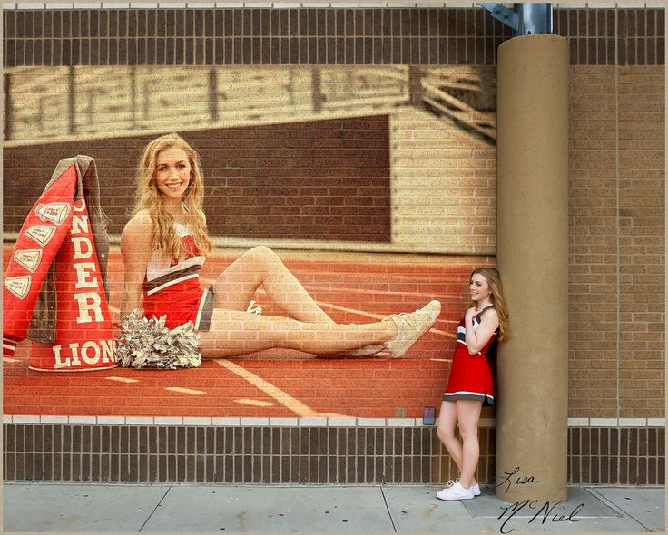 Ponder Texas Cheerleader Senior Pictures by Dallas Photographer Lisa McNiel