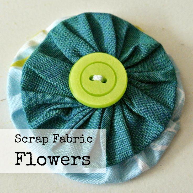 Sew Natural Blog: DIY Scrap Fabric Flowers