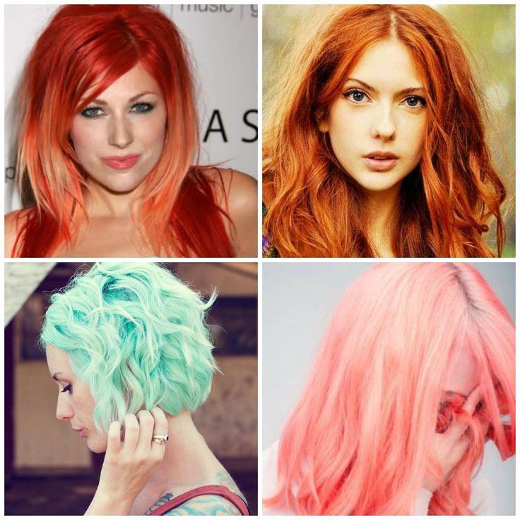 capelli colorati ceruleo e arancione stile punk
