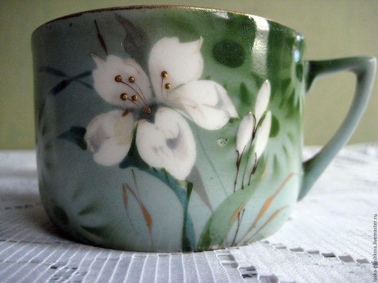 Купить Чайные чашки Дулево 3 шт - комбинированный, дулево, дулевский фарфор, чайная чашка