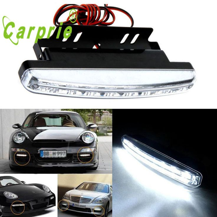 AUTO DC 12V 8LED Daytime Driving Running Light DRL Car Fog Lamp car lights auto car styling  personality car accessories Jul 17