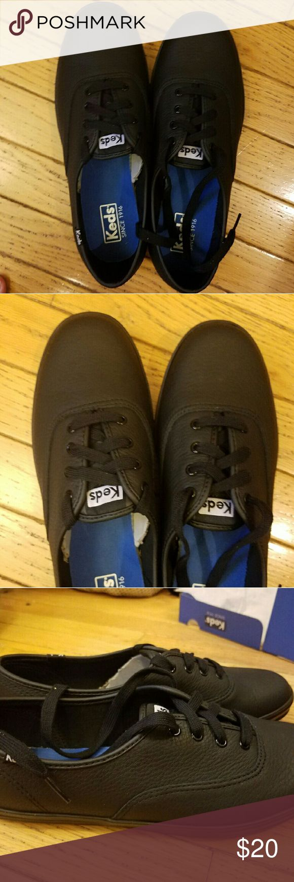 Black leather Keds Black leather Keds Shoes Flats & Loafers
