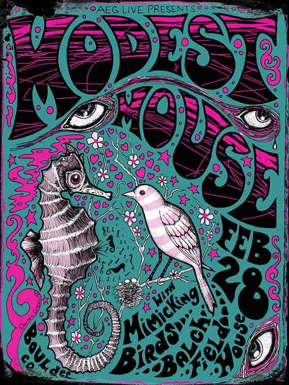 Modest Mouse Poster by darrengrealish on Etsy, $25.00