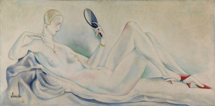 FB /José Almada de Negreiros / [Nu] (Pintura para o Bristol Club, Lisboa), 1926. Assinado / Datado. Óleo sobre tela 94,5 x 191 cm. Museu Calouste Gulbenkian – Coleção Moderna. Inv. 83P59