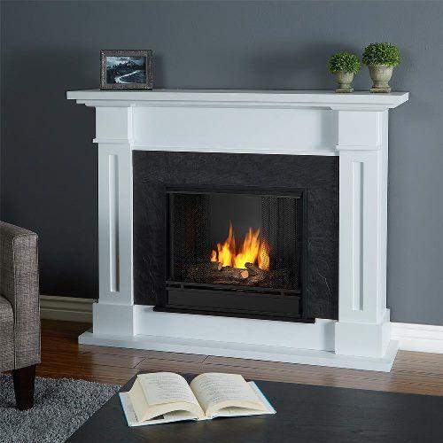 Real Flame Kipling Gel Fireplace - White