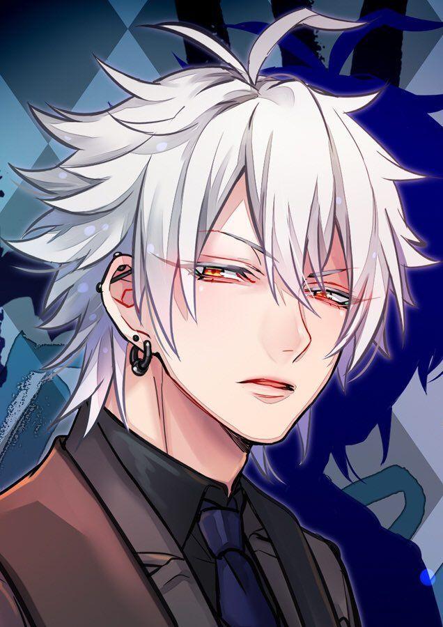 9 White hair anime guy ideas | anime, anime guys, cute anime boy